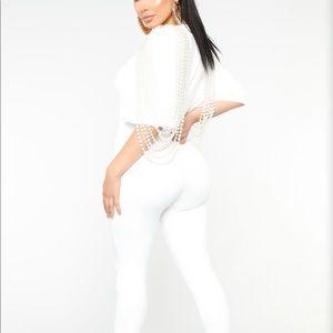 Juana Pearl Jumpsuit - White